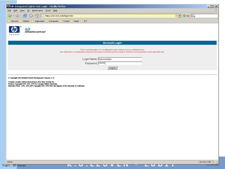 10/03/2005 WimM - HP-Servers