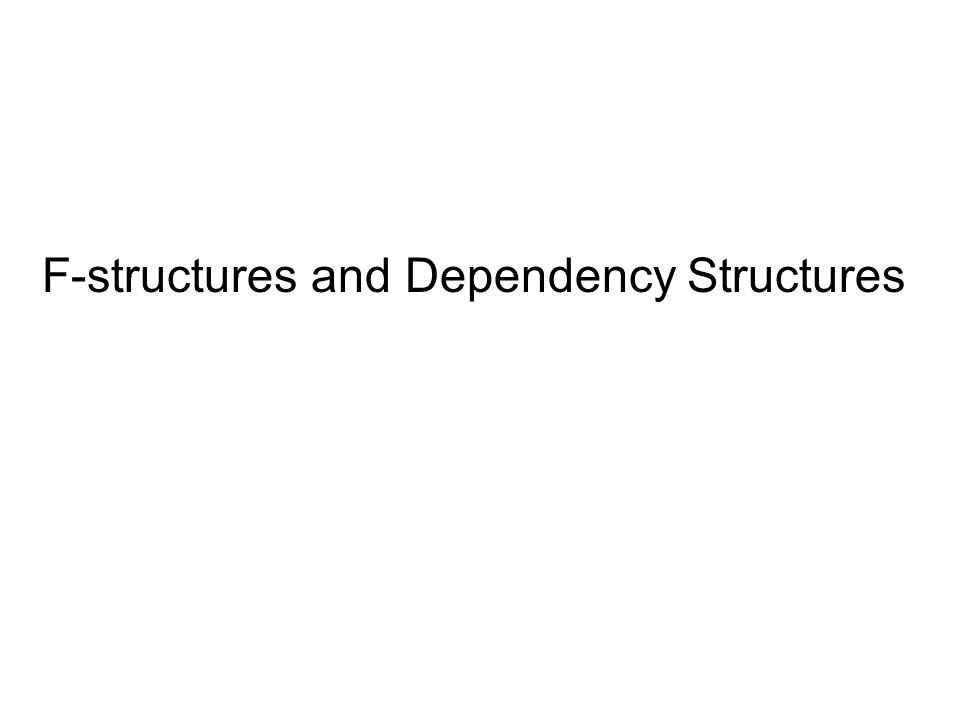F-structures and Dependency Structures