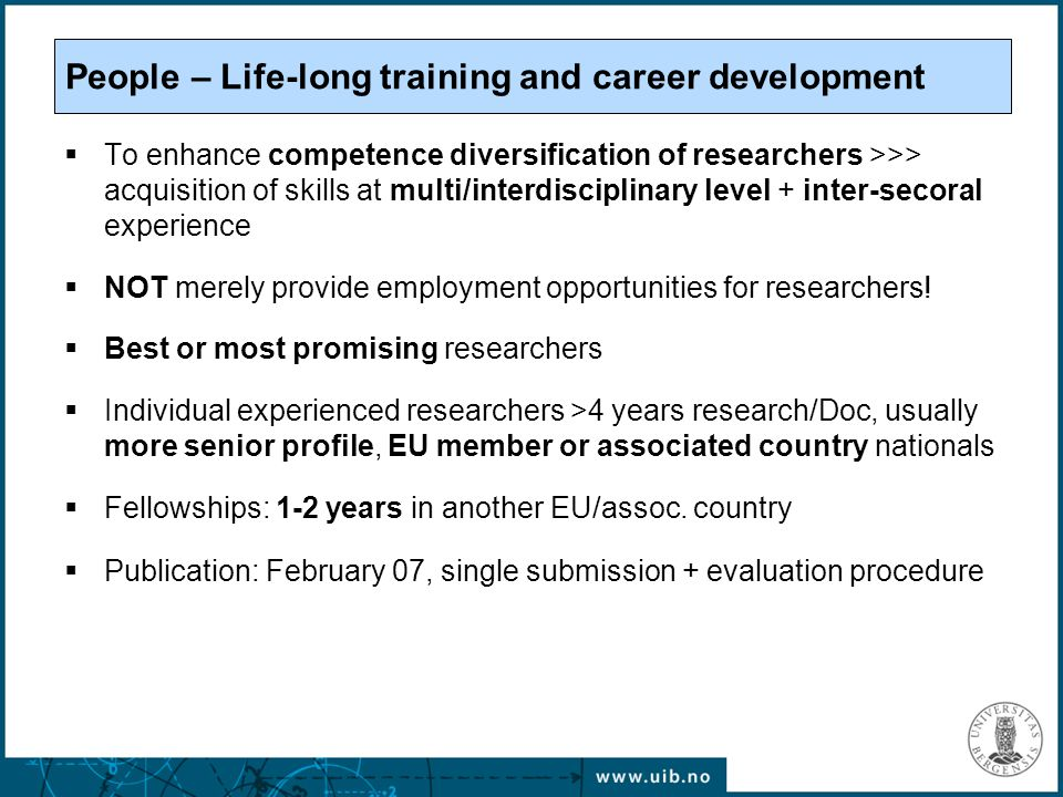 European Research Council (ERC) Any research field Individual projects (researcher or national/transnational team) Evaluated by excellence criterion (peer review) Grant schemes: Starting Independent Research Grant, Advanced Investigator Research Grant Highly competitive.