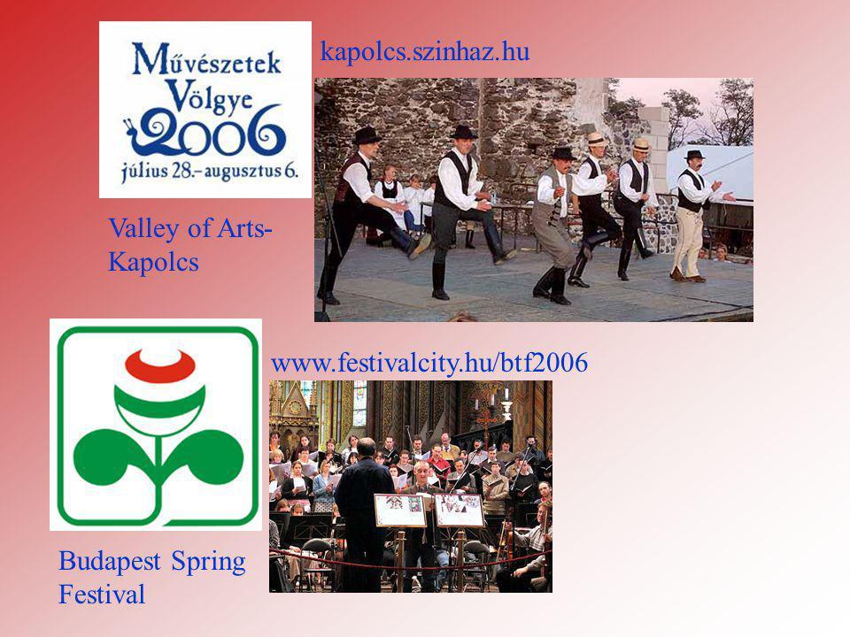 Valley of Arts- Kapolcs Budapest Spring Festival www.festivalcity.hu/btf2006 kapolcs.szinhaz.hu