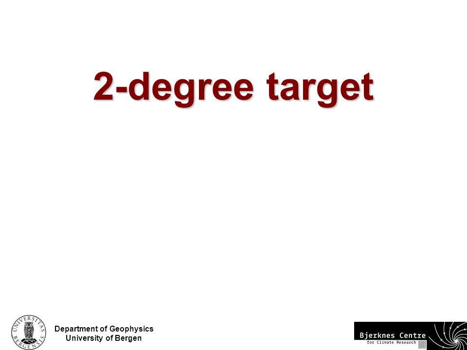 Department of Geophysics University of Bergen 2-degree target