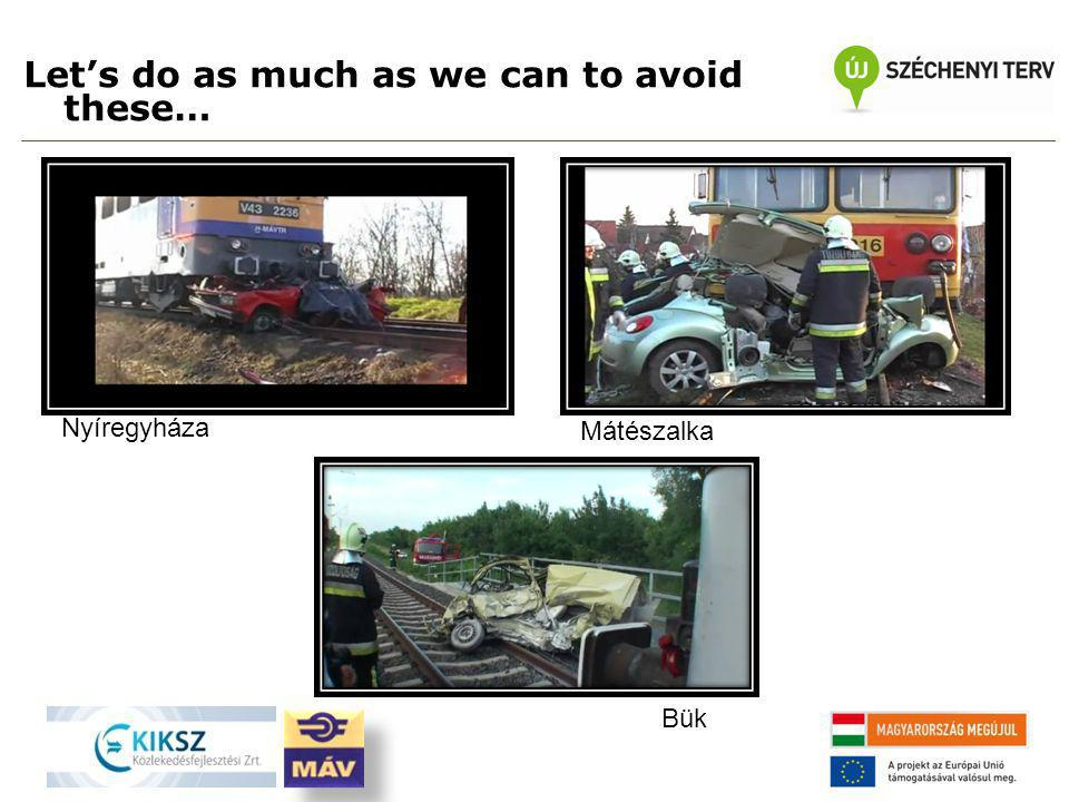 Let's do as much as we can to avoid these… Nyíregyháza Bük Mátészalka