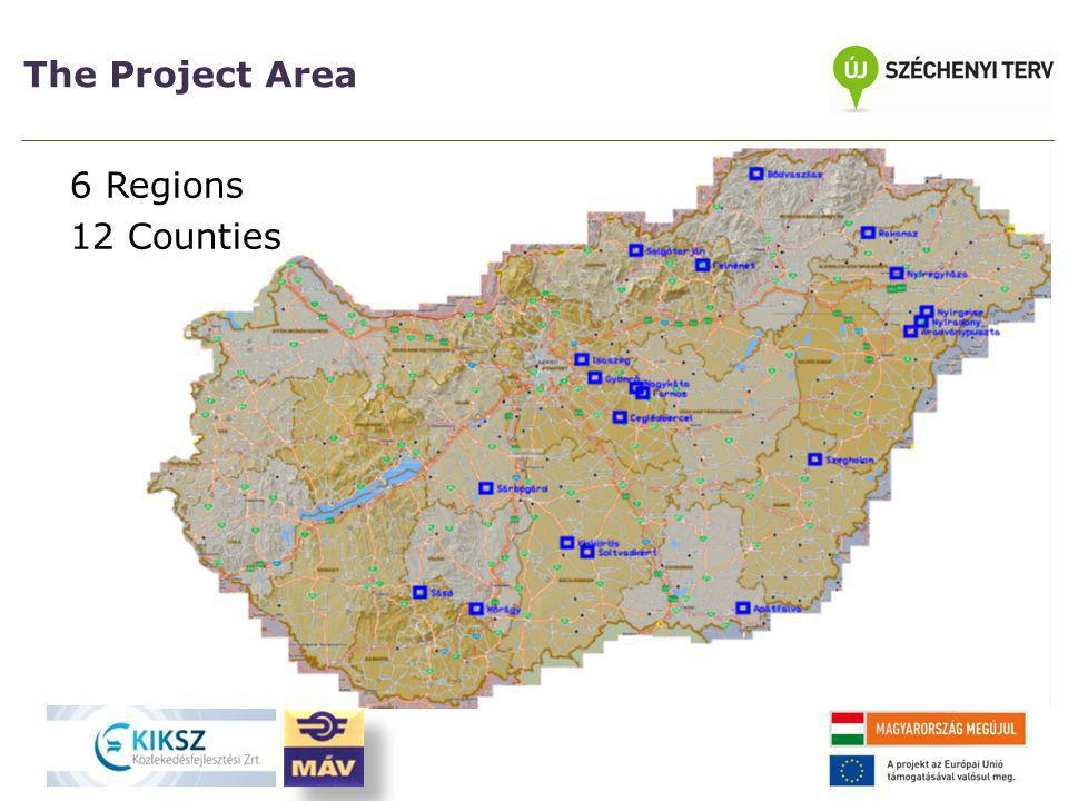 The Project Area 6 Regions 12 Counties