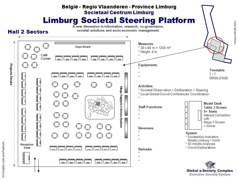 België - Regio Vlaanderen - Province Limburg Societaal Centrum Limburg Limburg Societal Steering Platform Global e-Society Complex Evolutive Society System © Globplex.com and Partners.
