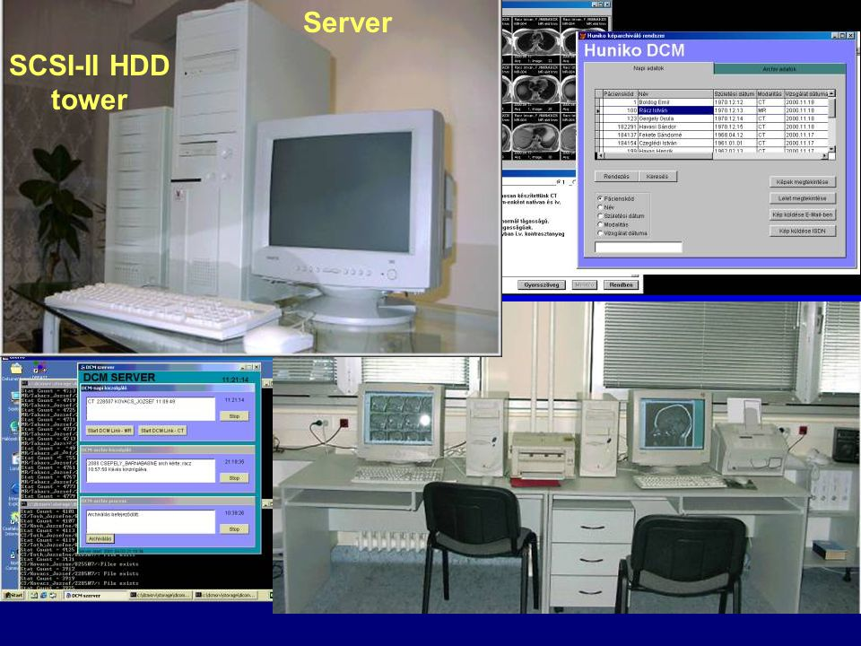 SCSI-II HDD tower Server