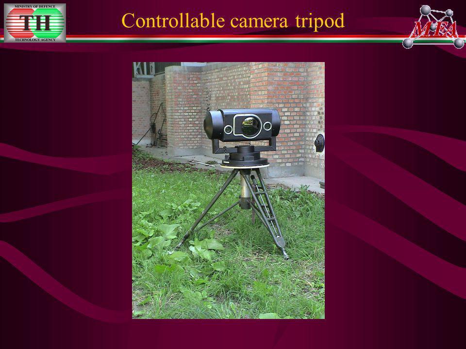 Controllable camera tripod