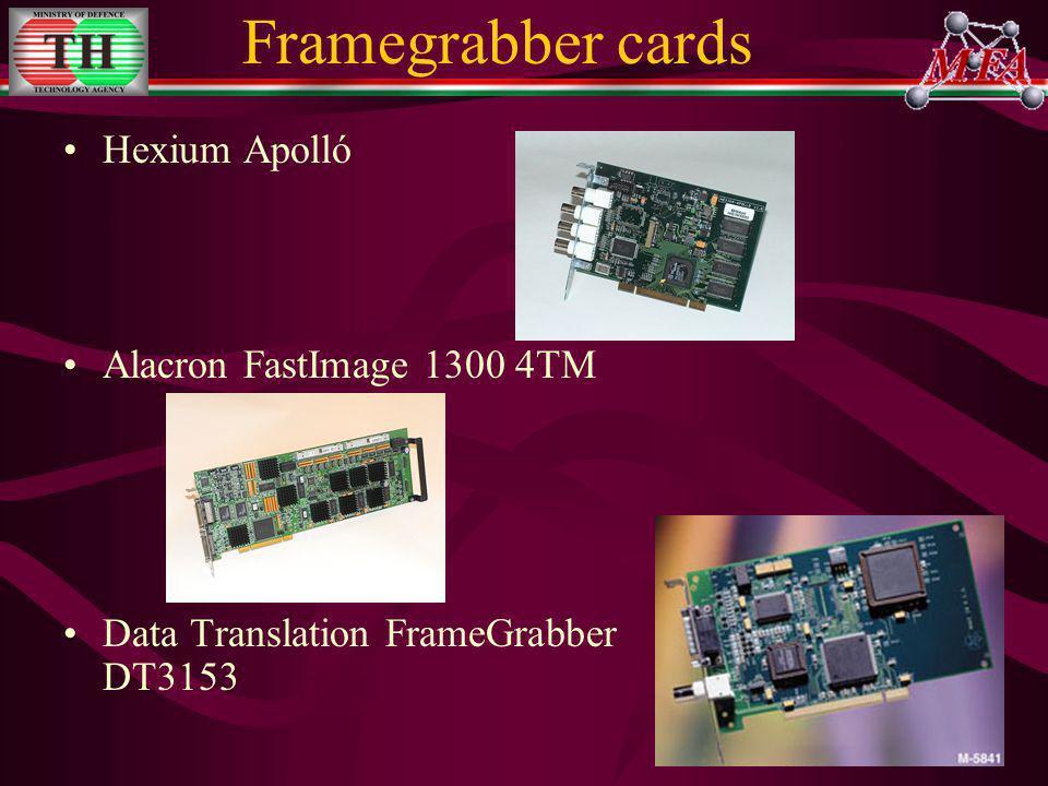 Framegrabber cards Hexium Apolló Alacron FastImage 1300 4TM Data Translation FrameGrabber DT3153