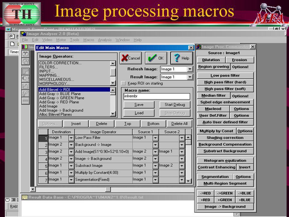Image processing macros