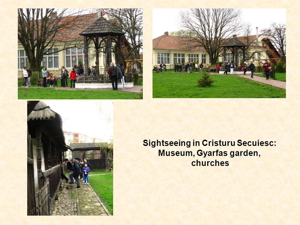 Sightseeing in Cristuru Secuiesc: Museum, Gyarfas garden, churches
