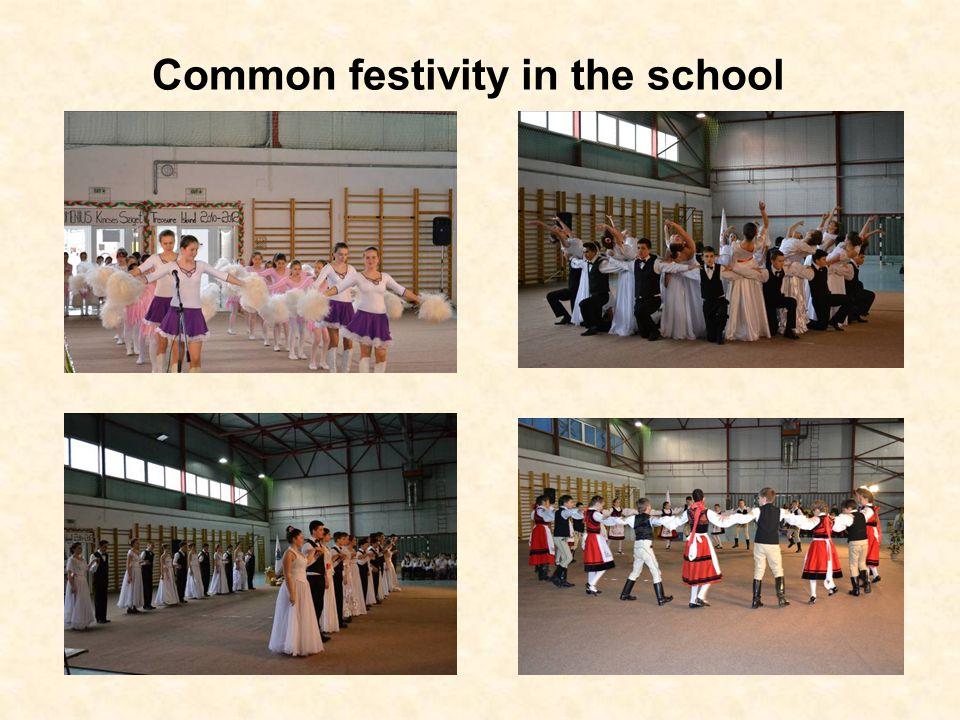 Common festivity in the school
