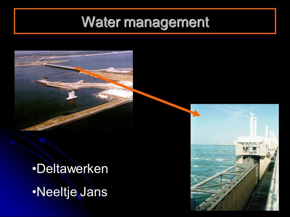 Deltawerken Neeltje Jans Water management
