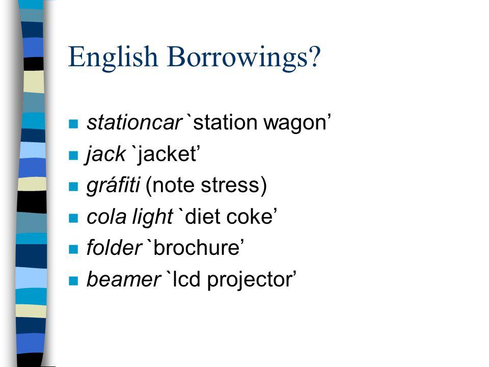 English Borrowings.