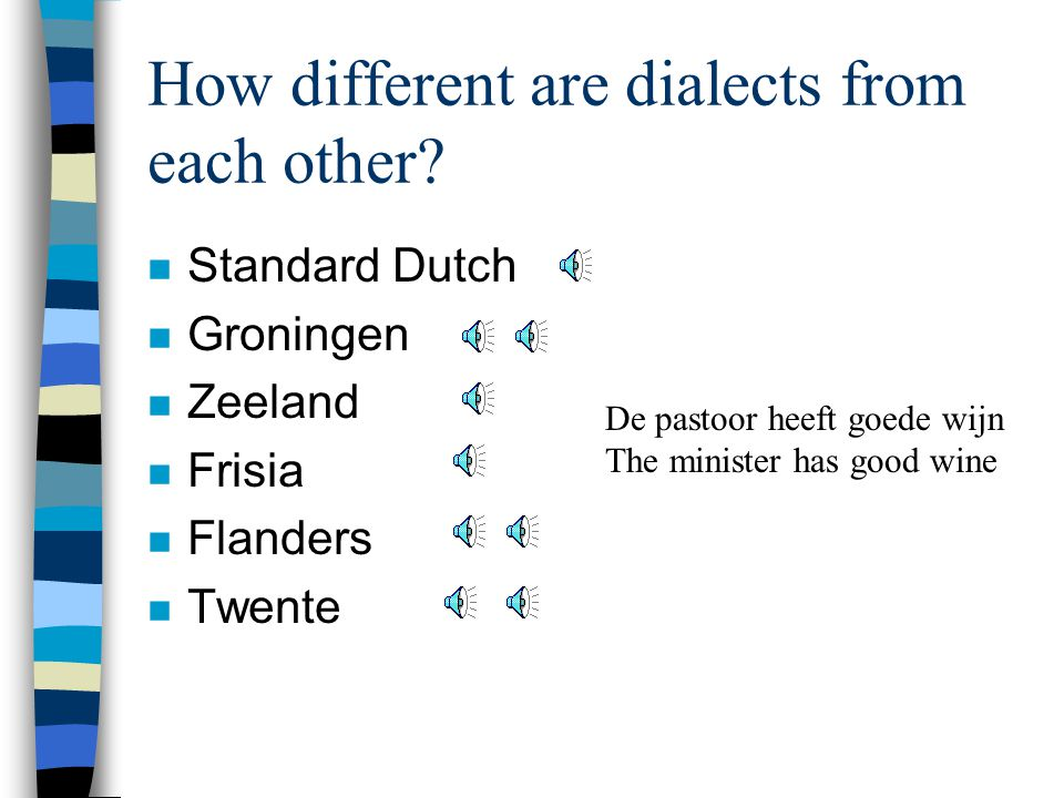 How different are dialects from each other.