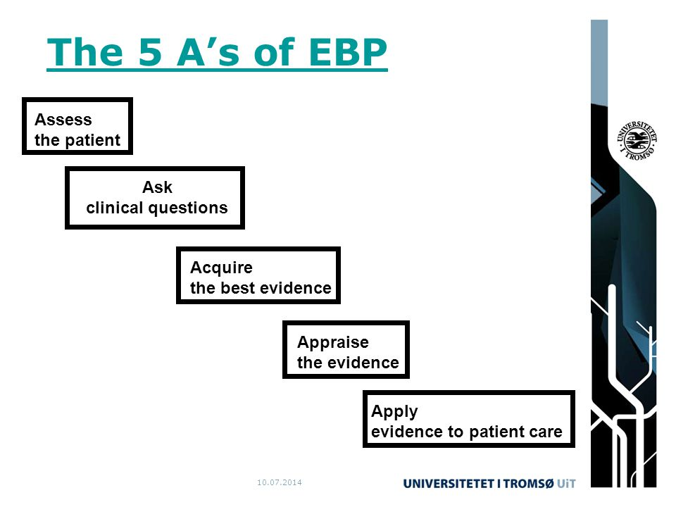 10.07.2014 The 5 A's of EBP.