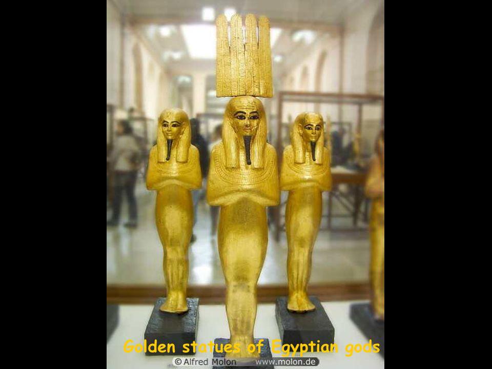 Golden statue of the god Anubis