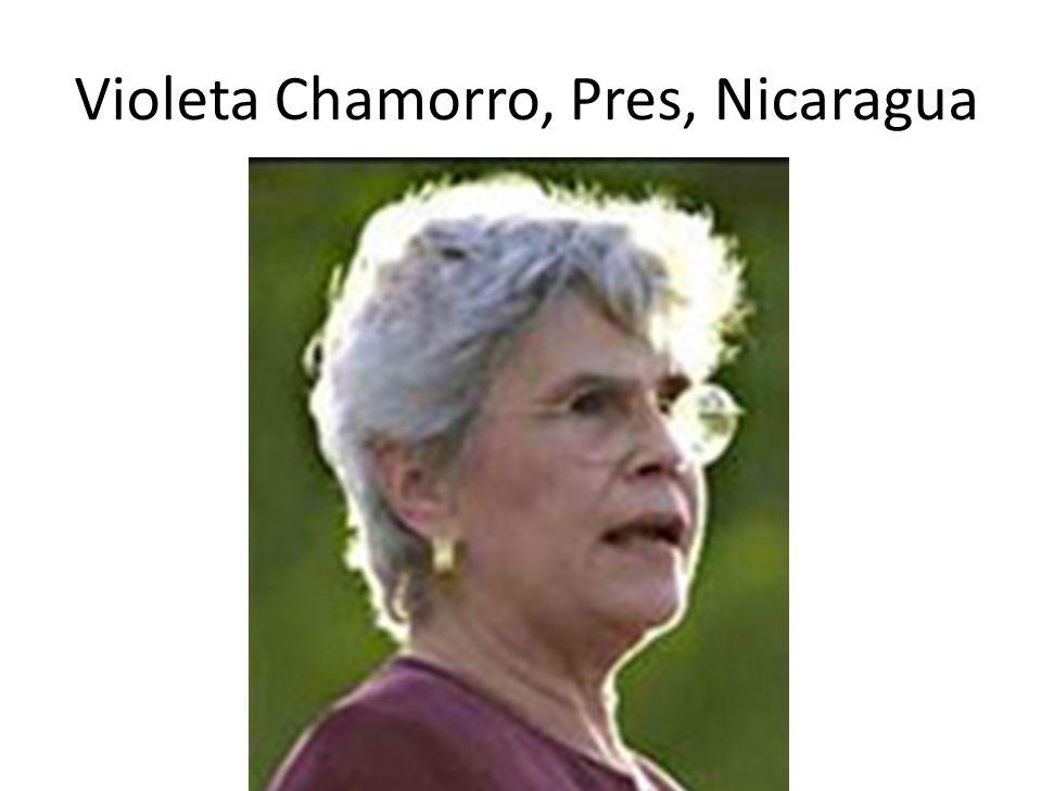 Violeta Chamorro, Pres, Nicaragua