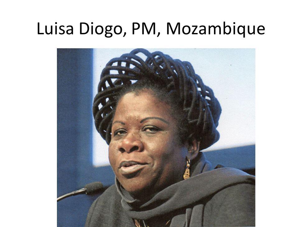 Luisa Diogo, PM, Mozambique