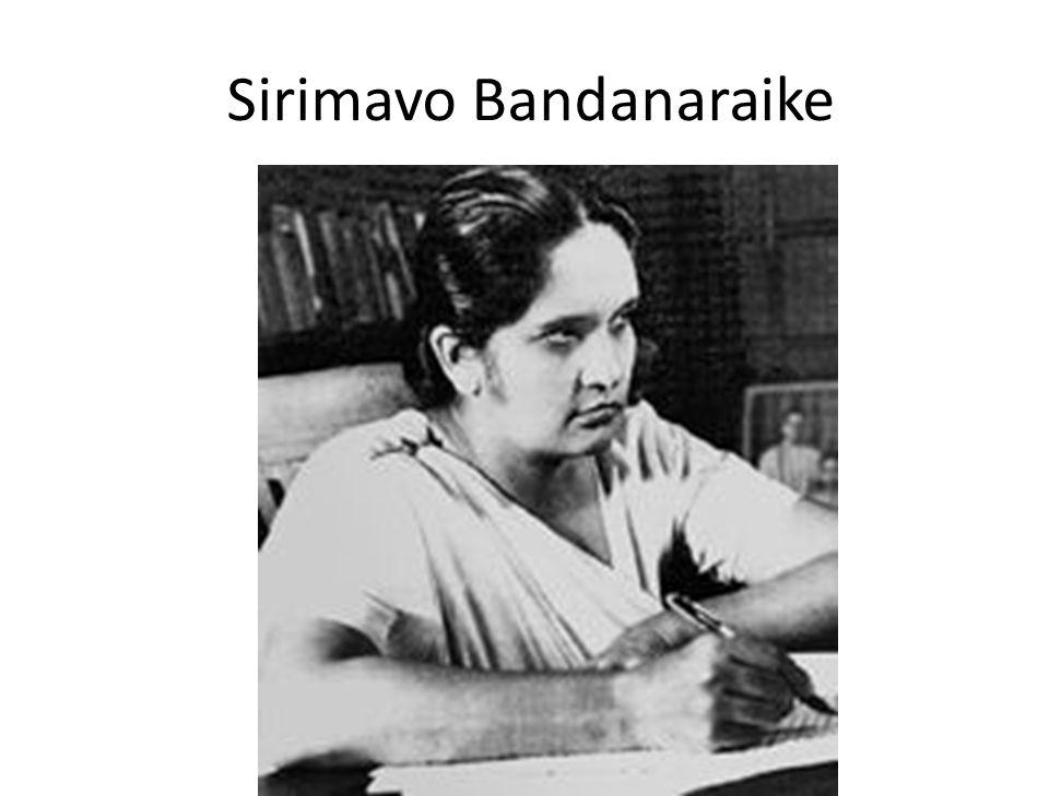 Sirimavo Bandanaraike