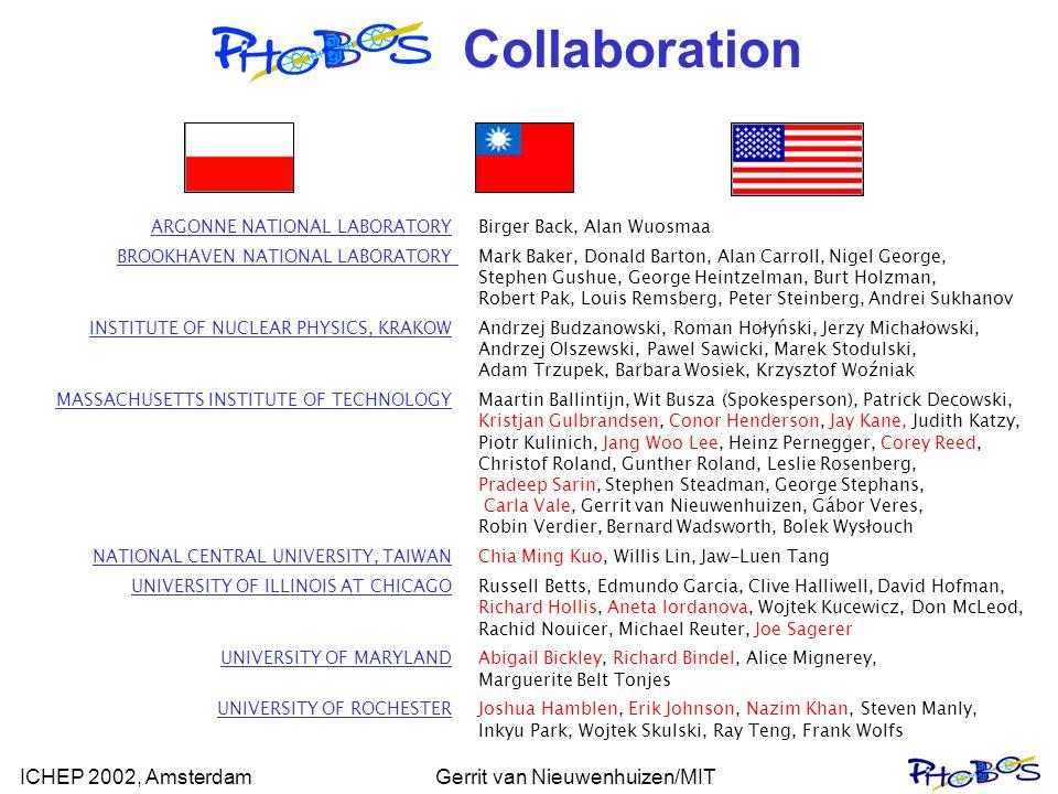 ICHEP 2002, AmsterdamGerrit van Nieuwenhuizen/MIT Collaboration ARGONNE NATIONAL LABORATORYBirger Back, Alan Wuosmaa BROOKHAVEN NATIONAL LABORATORY Ma