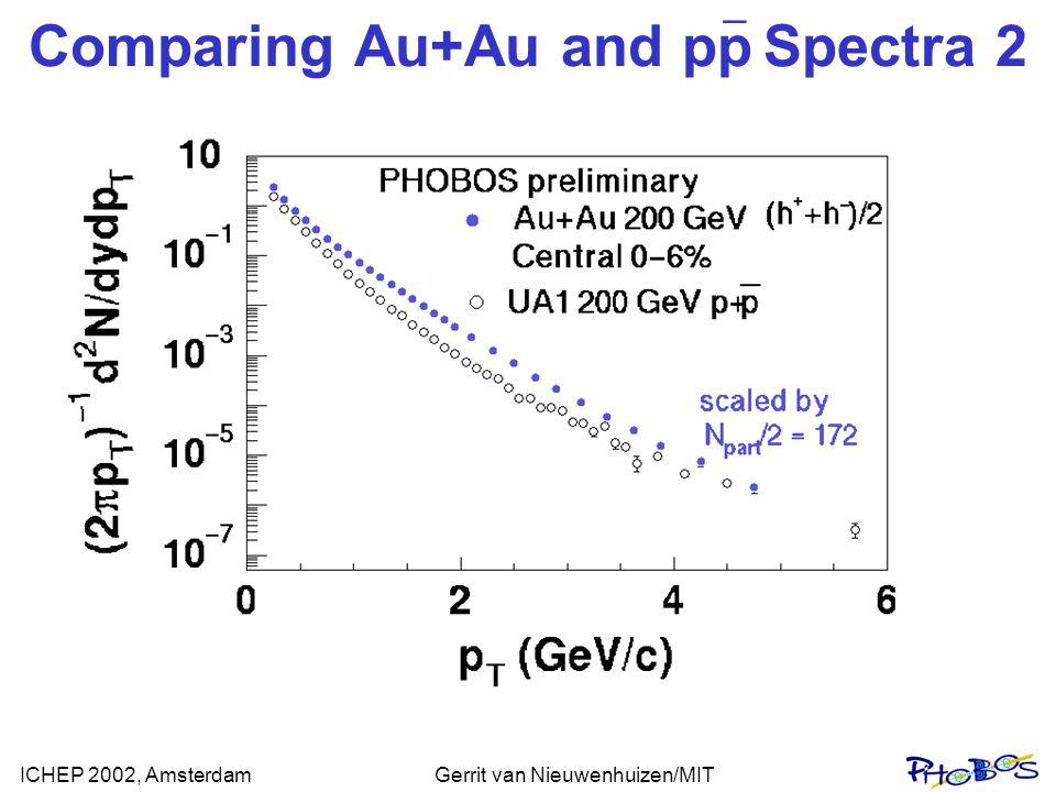 ICHEP 2002, AmsterdamGerrit van Nieuwenhuizen/MIT Comparing Au+Au and pp Spectra 2 _
