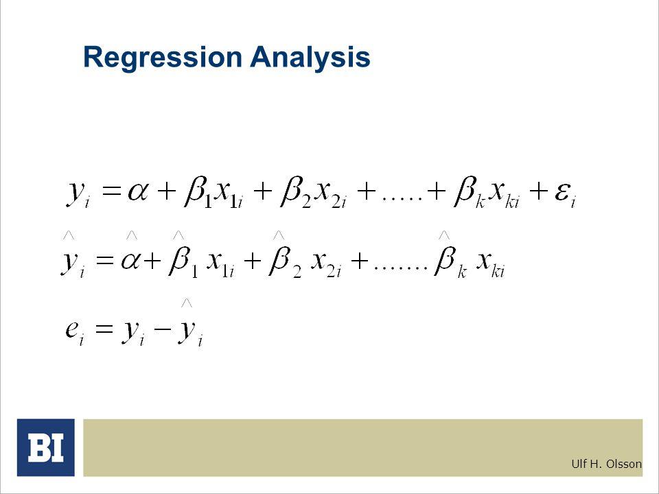 Ulf H. Olsson Regression Analysis
