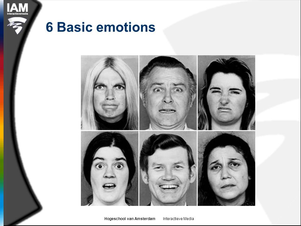 Hogeschool van Amsterdam Interactieve Media Emotion as an automatic / active process  The Schachter-Singer theory suggests that the emotions we feel as a result of a stimulus are actively chosen by our cognitive system  However, this does not mean that we can choose not to react on a physical (visceral) level  We respond to some stimuli (esp.