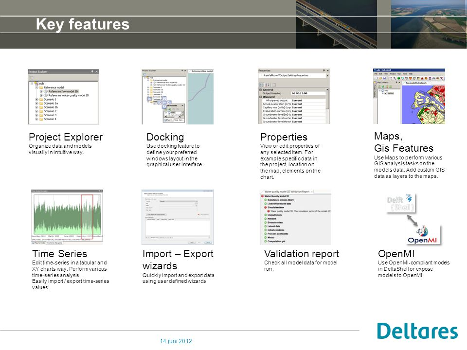 14 juni 2012 Key features Project Explorer Organize data and models visually in intuitive way.