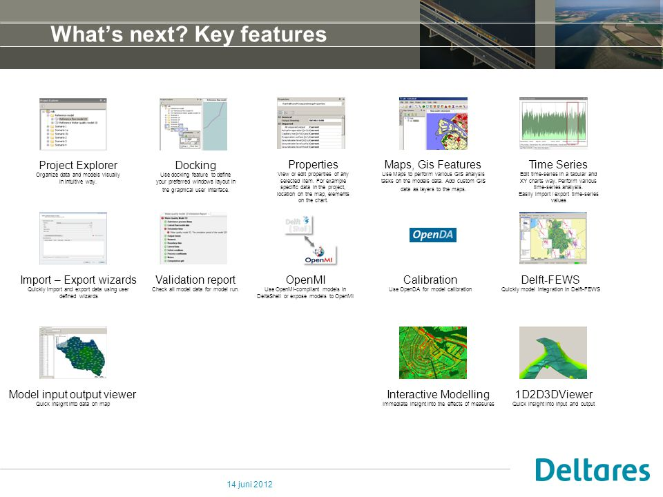14 juni 2012 What's next? Key features Project Explorer Organize data and models visually in intuitive way. Docking Use docking feature to define your