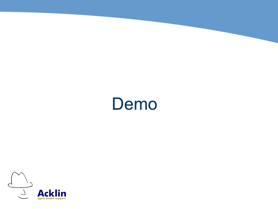 Acklin agent based support Demo