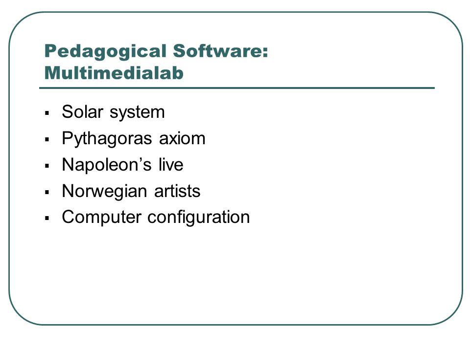  Solar system  Pythagoras axiom  Napoleon's live  Norwegian artists  Computer configuration
