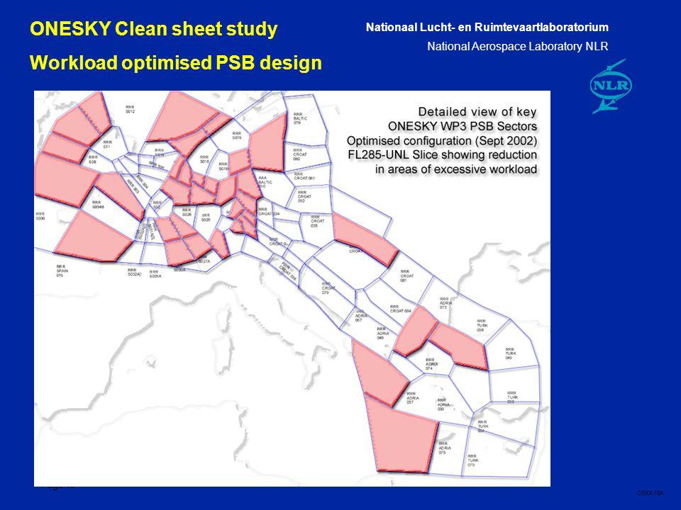 Nationaal Lucht- en Ruimtevaartlaboratorium National Aerospace Laboratory NLR CXXX-13A Page 13 13 ONESKY Clean sheet study Workload optimised PSB design