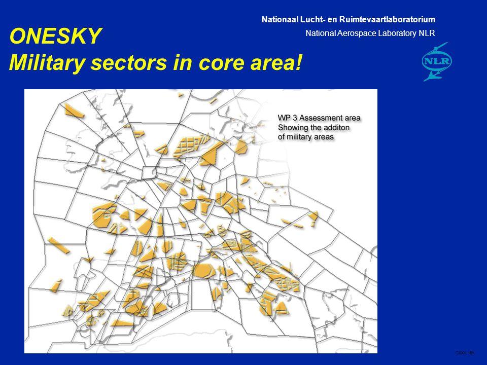 Nationaal Lucht- en Ruimtevaartlaboratorium National Aerospace Laboratory NLR CXXX-16A Page 16 16 ONESKY Military sectors in core area!