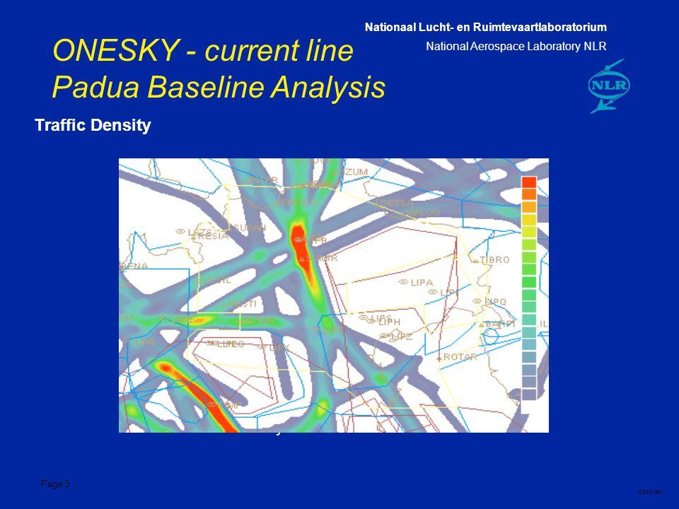 Nationaal Lucht- en Ruimtevaartlaboratorium National Aerospace Laboratory NLR CXXX-5A Page 5 ONESKY - current line Padua Baseline Analysis 5 Traffic Density Traffic Density Plot for LIPPN3 - 23/07/99
