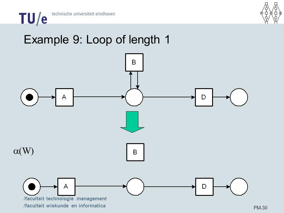 /faculteit technologie management /faculteit wiskunde en informatica PM-30 Example 9: Loop of length 1  (W)