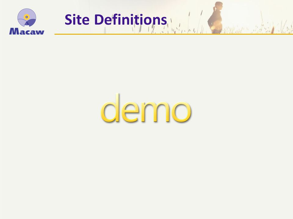 Site Definitions
