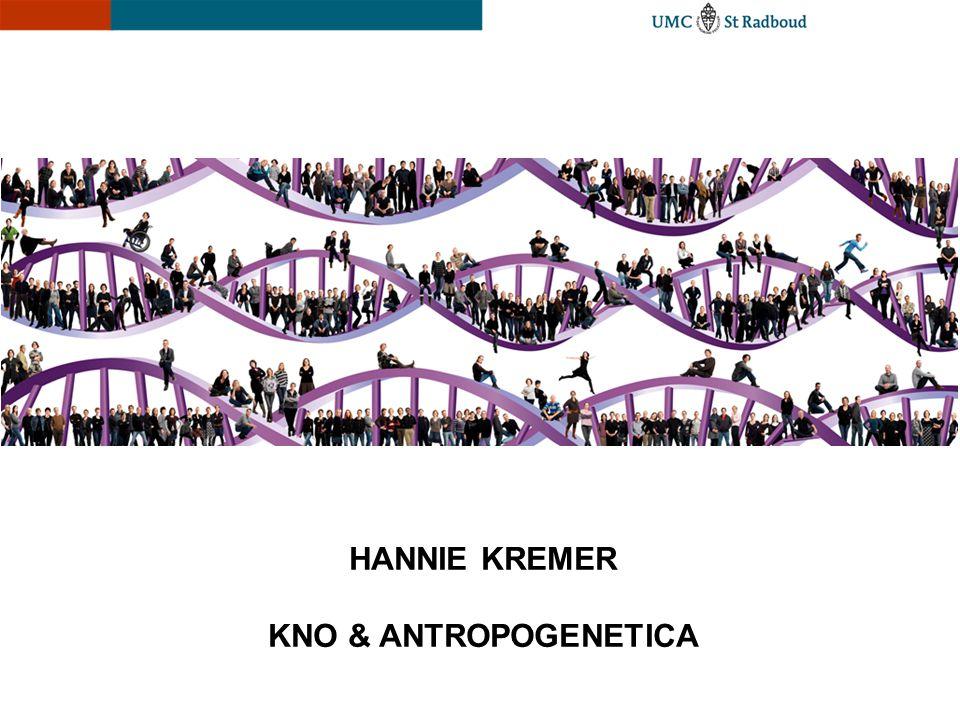 HANNIE KREMER KNO & ANTROPOGENETICA