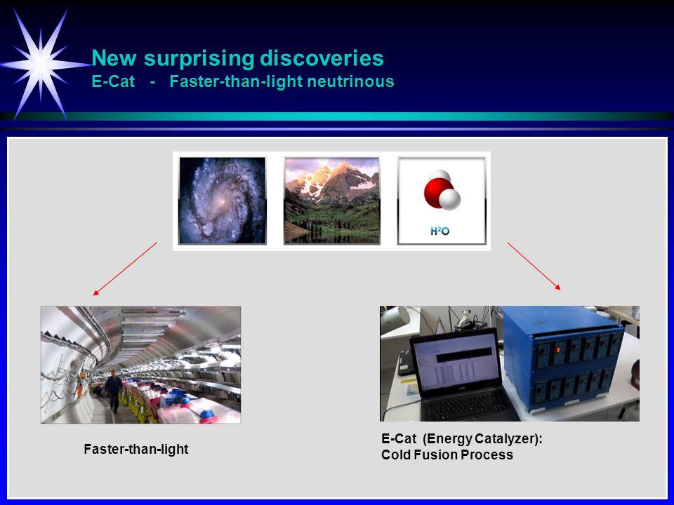New surprising discoveries E-Cat - Faster-than-light neutrinous E-Cat (Energy Catalyzer): Cold Fusion Process Faster-than-light