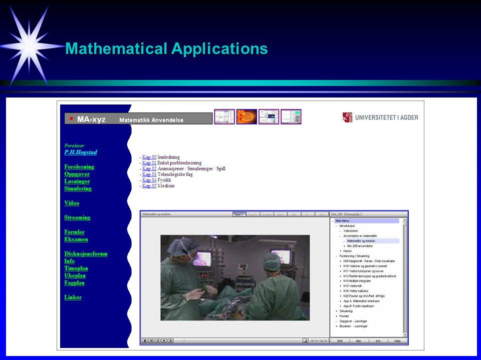 Mathematical Applications