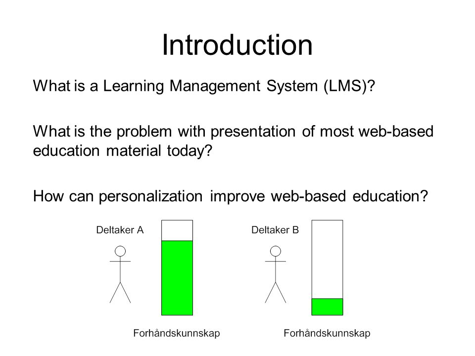 Introduction What is a Learning Management System (LMS).