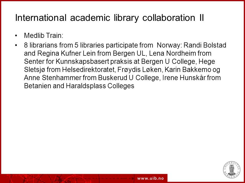 International academic library collaboration III Søk og skriv, with Ålborg ULibrary, Denmark The new PhD-project