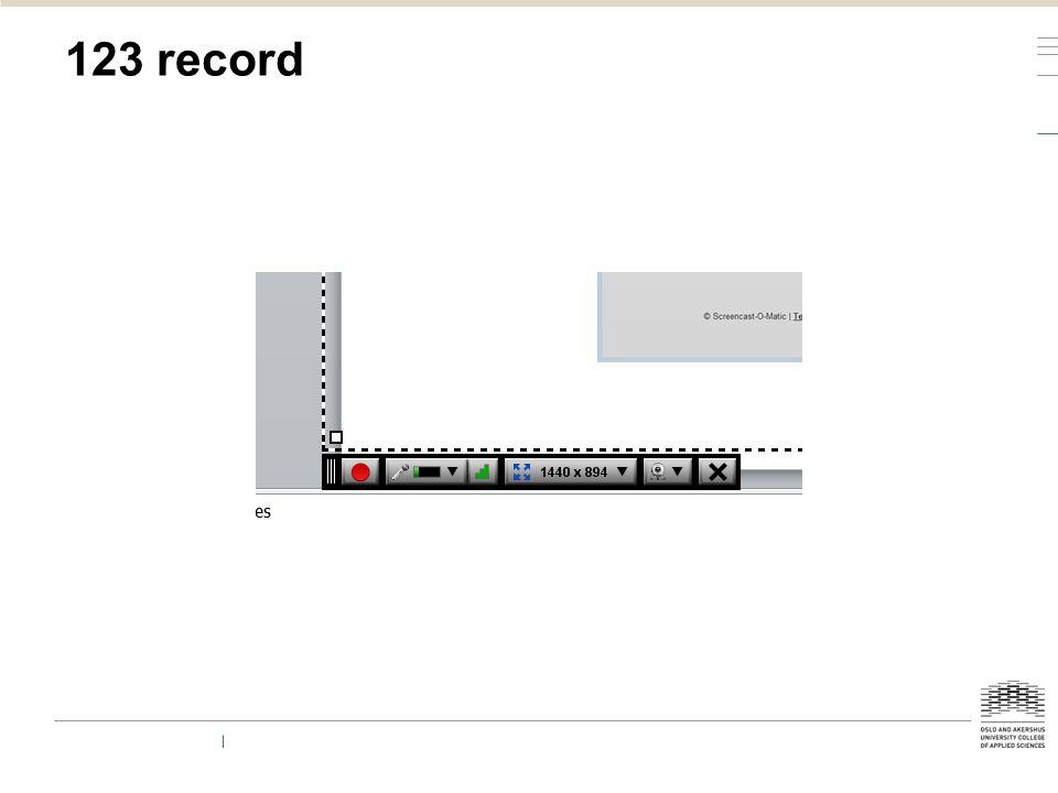 123 record