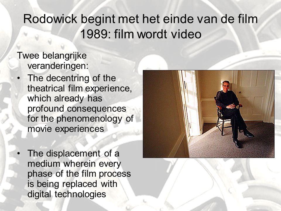 The Death of Cinema AD2: wat betekent digitalisering.