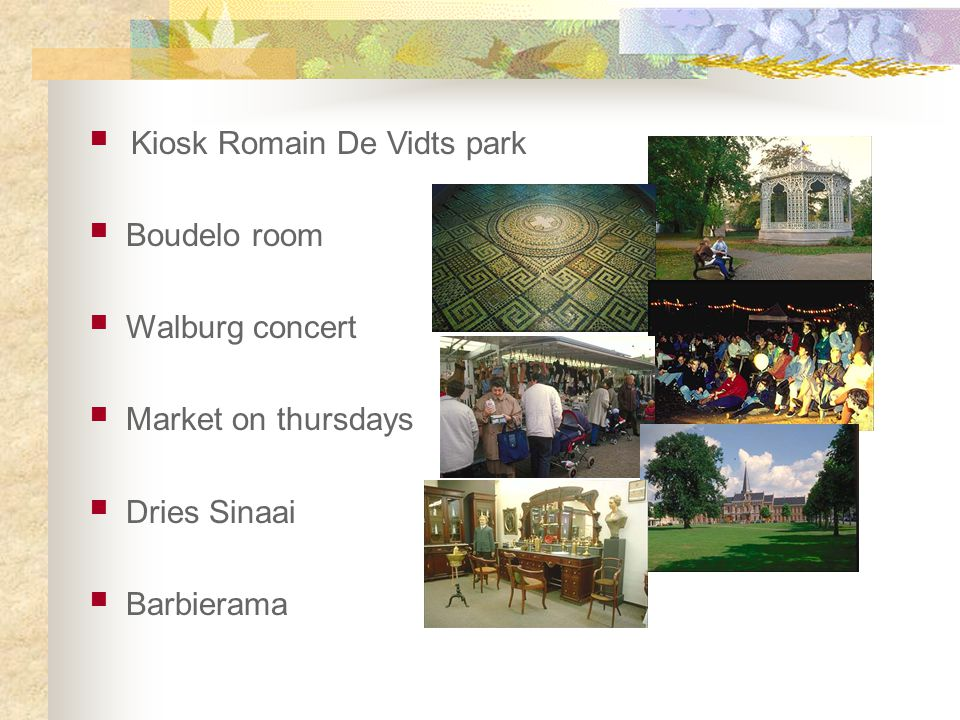 Kiosk Romain De Vidts park Boudelo room Walburg concert Market on thursdays Dries Sinaai Barbierama