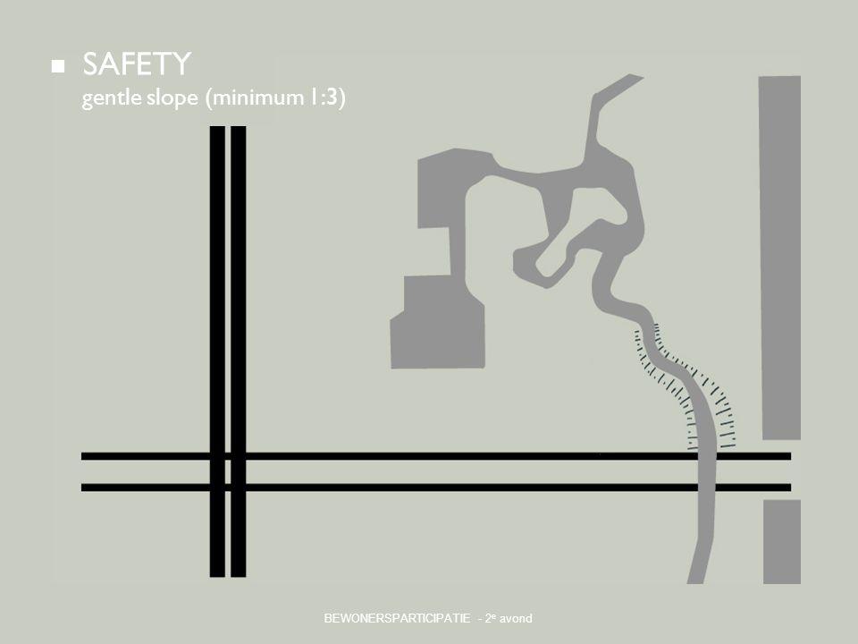 BEWONERSPARTICIPATIE - 2 e avond SAFETY gentle slope (minimum 1:3)