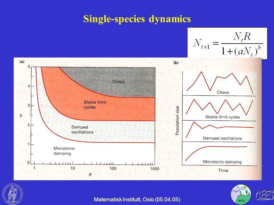 Matematisk Institutt, Oslo (05.04.05) Single-species dynamics