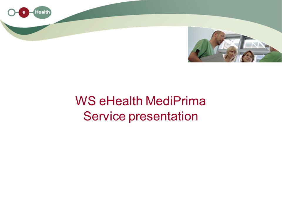 WS eHealth MediPrima Service presentation