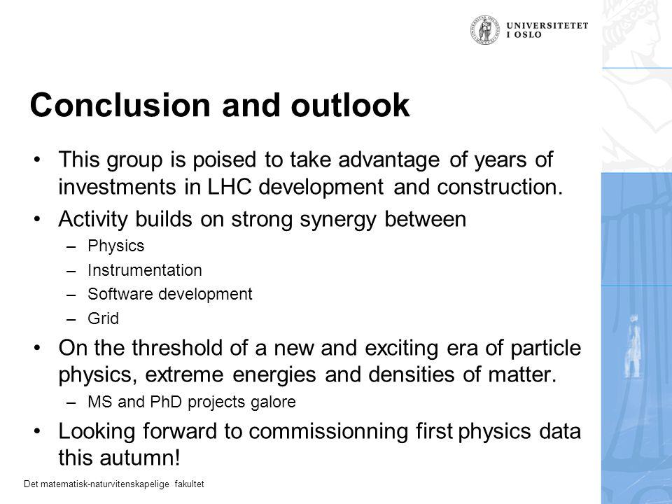 Det matematisk-naturvitenskapelige fakultet For discussion...
