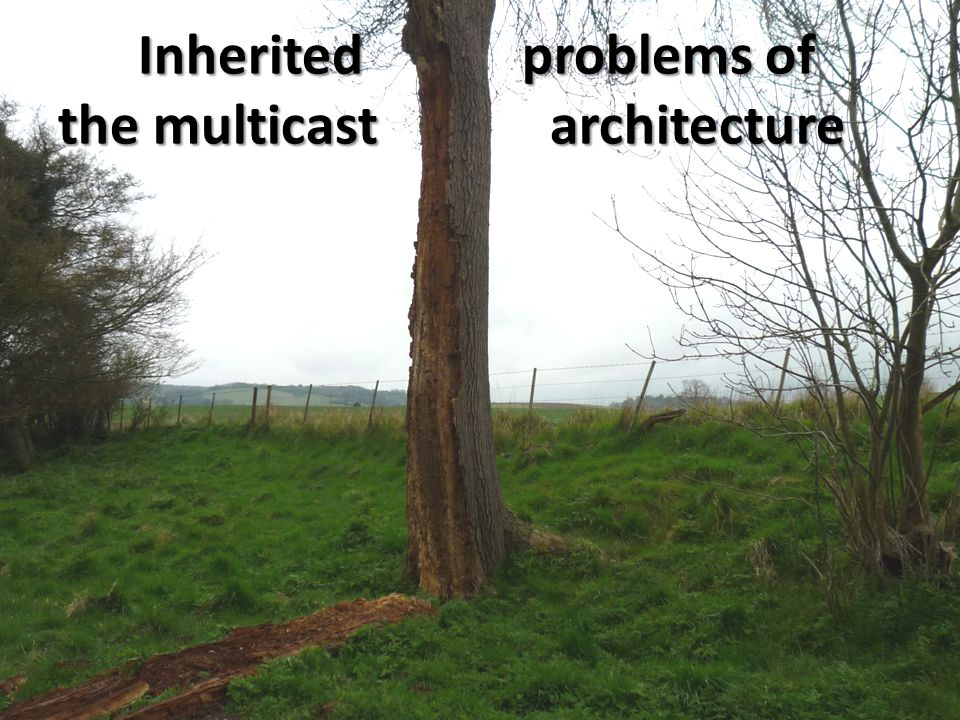 Inherited problems of the multicast architecture Inherited problems of the multicast architecture