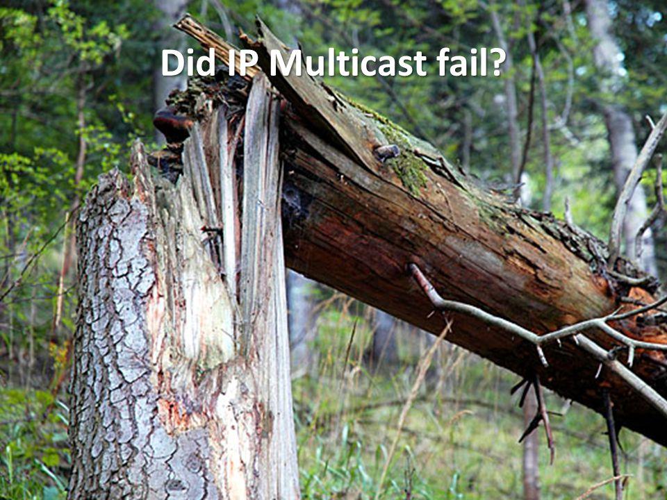 Did IP Multicast fail