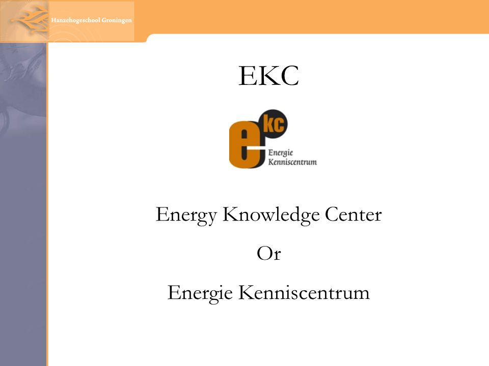 EKC Energy Knowledge Center Or Energie Kenniscentrum